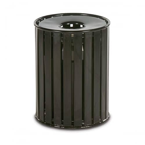 flat top slat pattern trash recepticle