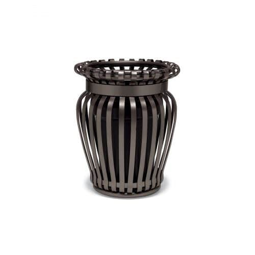 slat trash can with liner