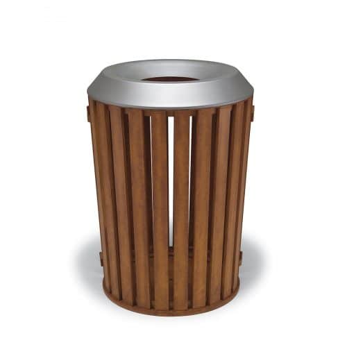 woodridge 32 gallon trash can with flat top