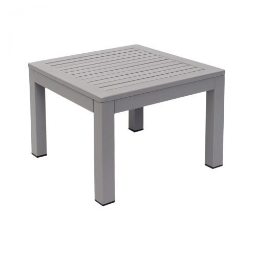 soft gray outdoor end table