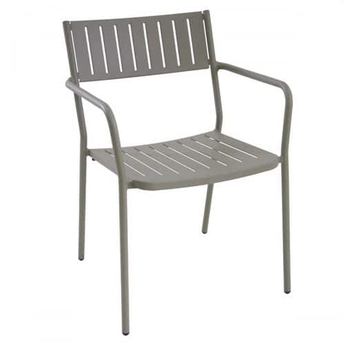 steel slat Bridge arm chair