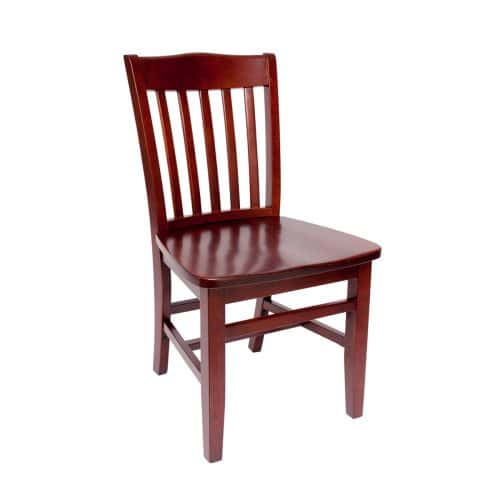 side chair with vertical back bars and upholstered seat
