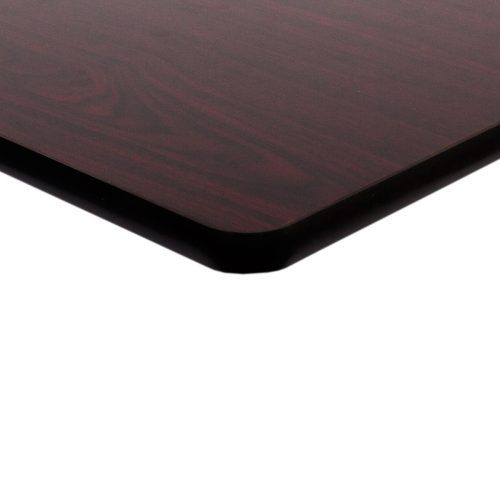 dark mahogany double sided laminate top