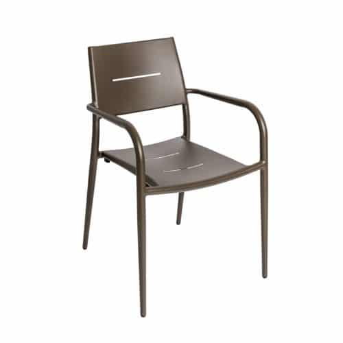 bronze outdoor stackable armchair