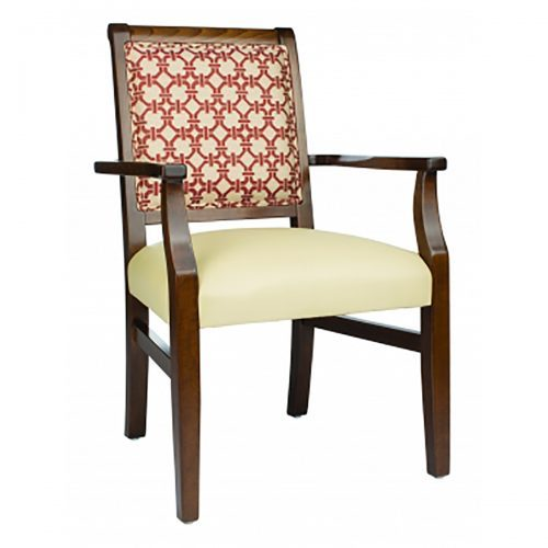 accent armchair with sleigh back, upholstery, and outside back design