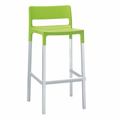 Olly barstool with PPL and aluminum
