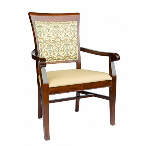bariatric arm chair with upholstery and detailed arms