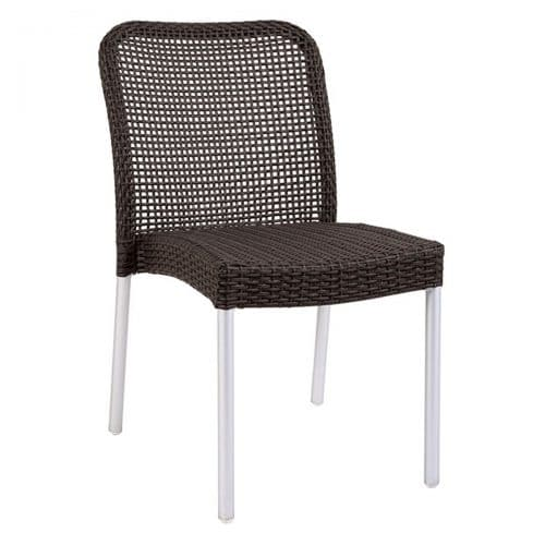 rita wicker aluminum legs side chair
