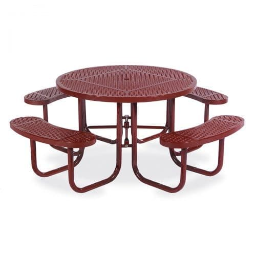 "46"" round table seats 8"