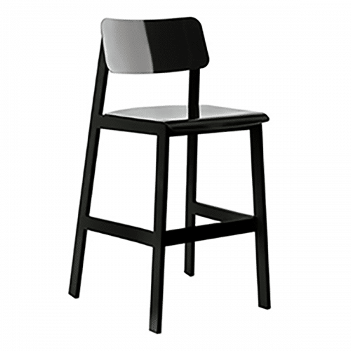 black outdoor barstool