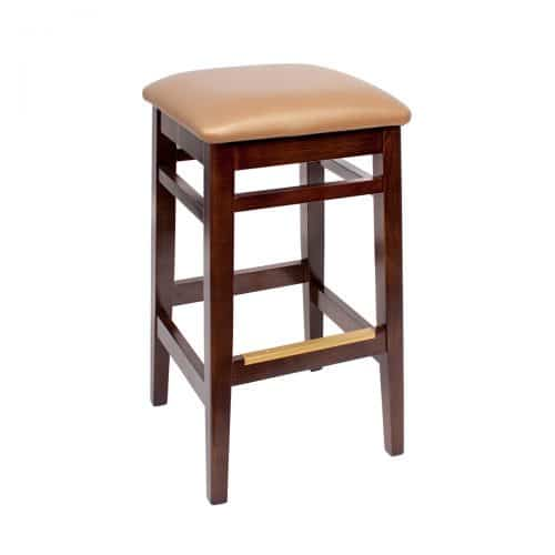 backless barstool with upholstered seat