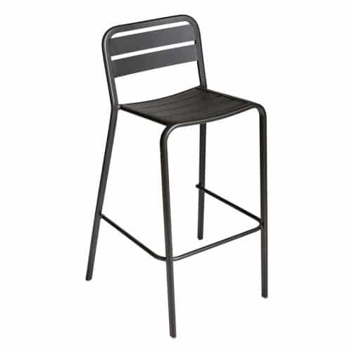 aluminum outdoor barstool in black finish