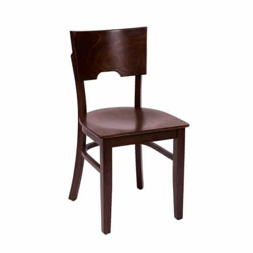 side chair with wood seat and features that allow easy transportation
