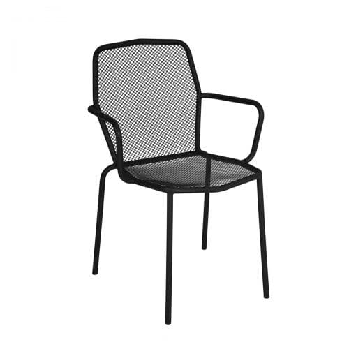 mesh black outdoor arm chair