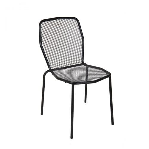 black mesh outdoor side chair