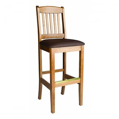 bulldog barstool with cushion front view