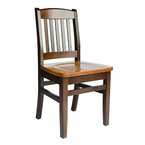 bulldog chair wood seat