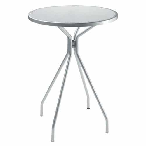 bar height round table in steel mesh and steel frame