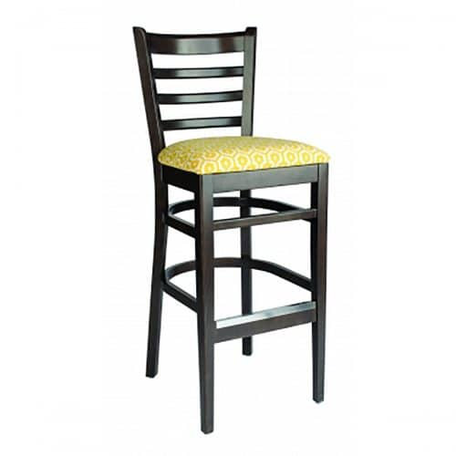 carole barstool with upholstered seat