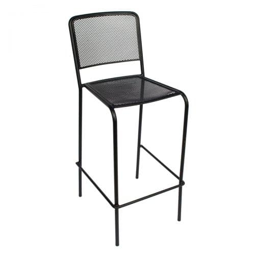 black mesh outdoor stacking barstool