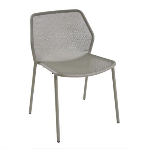 Steel frame with mesh seat and back side chair