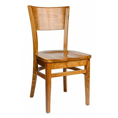 wood chair with wood seat and wood back