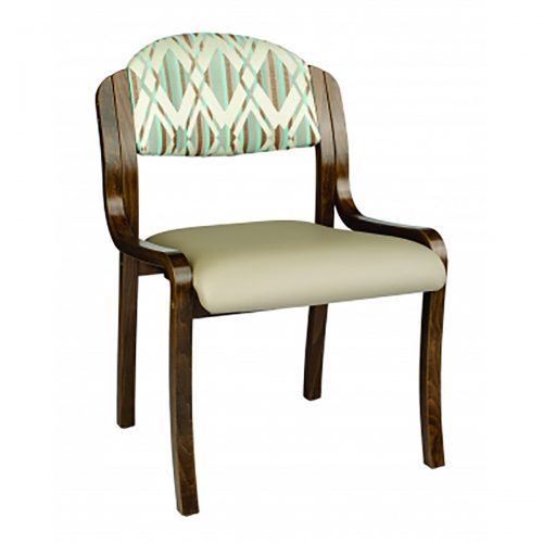 comfortable and durable side chair with upholstered seat and back
