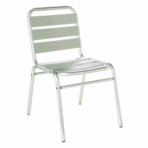 tubular aluminum side stacking chair