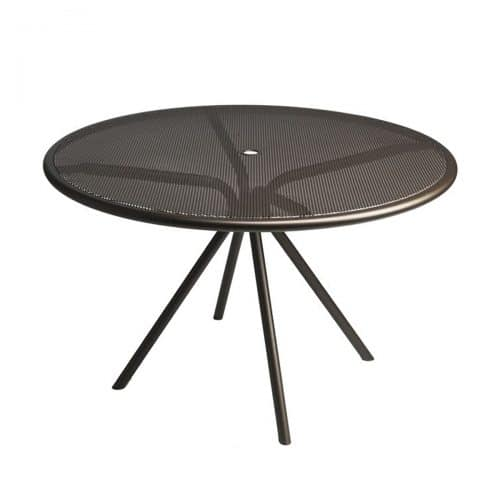 "perforated steel mesh 42"" Round table"