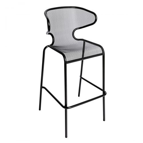 black mesh outdoor barstool