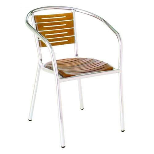sofia arm chair aluminum arm chair with teak seat and back