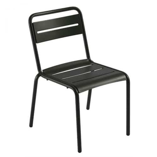 steel slat side chair