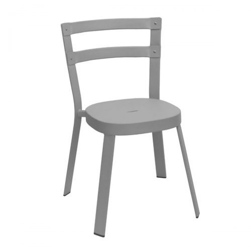solid steel chair