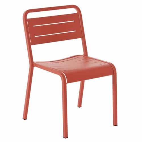 cherry aluminum slat chair