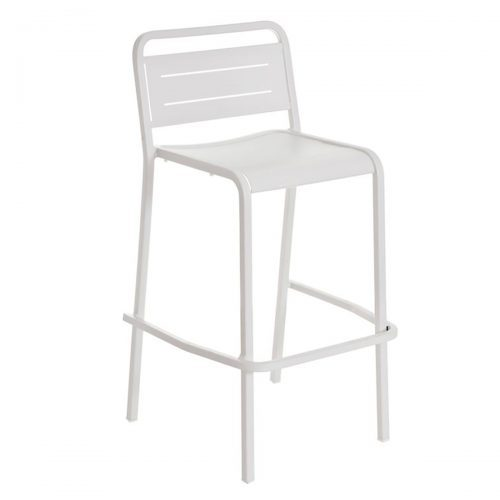 urban barstool for outdoor in aluminum with slats