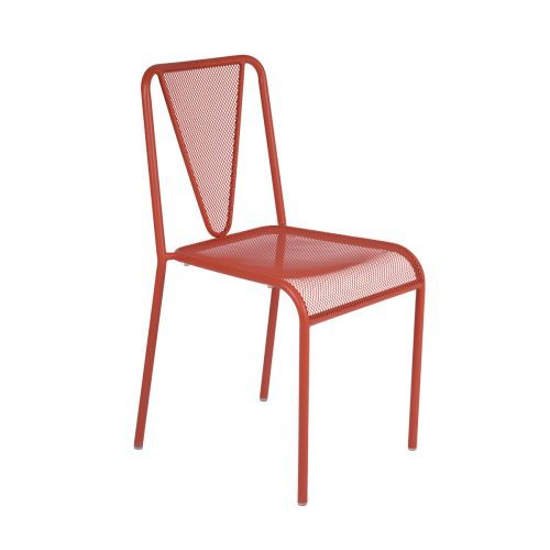 grenadine mesh stackable outdoor side chair
