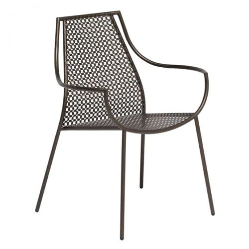 vera arm chair with steel design