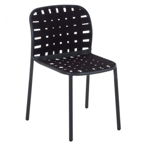 aluminum chair with elastic belts