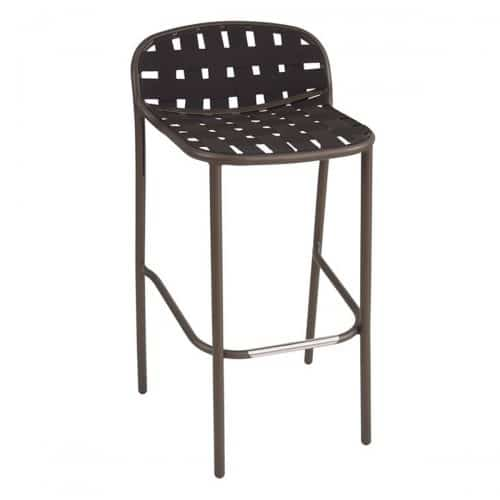 yard barstool with aluminum frame and elastic belts