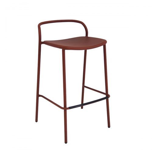zoe barstool with steel structural frame