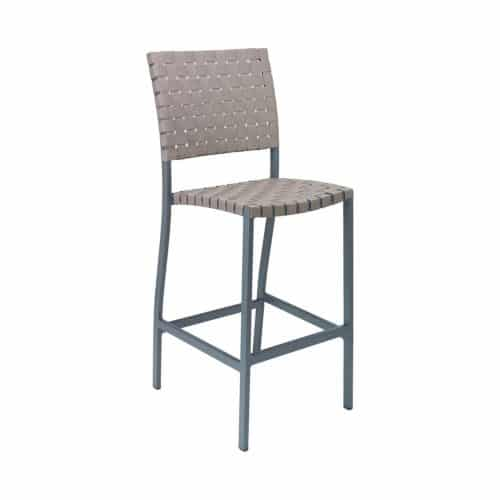 outdoor barstool with woven seat and back