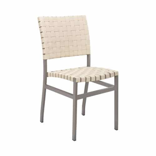outdoor chair with woven seat and back