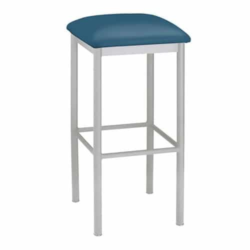 metal backless barstool with upholstery