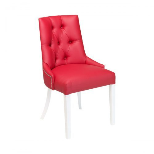upholstered side chair with buttons