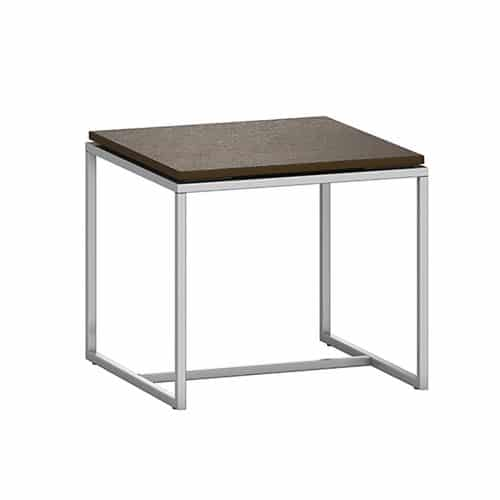 wood table top with metal frame