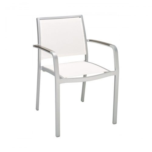 outdoor arm chair with canvas seat and back