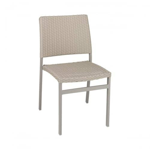 outdoor side chair with weave seat and back