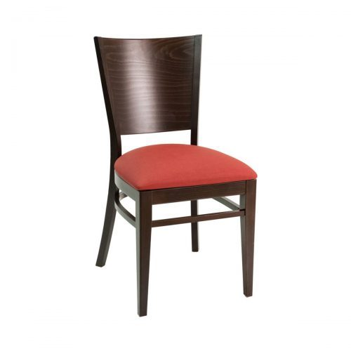 wood side chair with high back and upholstery seat