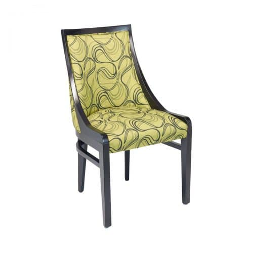 side chair with high back and upholstery