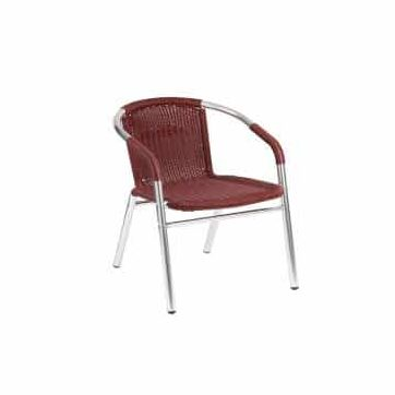 w-21 outdoor arm chair bordeaux